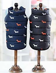 cheap -Dog Pets Cloth Dog Coat Dog Shirt / Dog T-shirt Dog Sweater Dog Clothes Puppy Clothes Dog Outfits Black Navy Blue Costume for Girl and Boy
