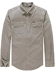 cheap -wenven men's lightweight button front work shirt jacket(brown,x-large)