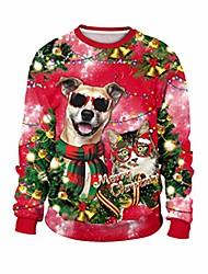 cheap -unisex ugly christmas sweater 3d print funny merry xmas pullover sweatshirt xmas long sleeve shirt, s11-l