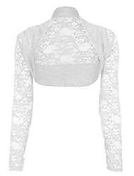 cheap -ladies girls cropped lace bolero shrug size uk 8-16 (onesize (uk 8-12), white)