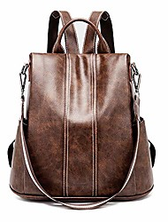 cheap -anti-theft women backpack purse travel rucksack vintage shoulder bag for women (brown02)