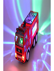 cheap -upgraded version of electric fire truck toy, automatic driving and steering, accompanied by siren sound, dynamic 3d lighting, amazing children's toys, a good gift for kids (fire trunk -l)