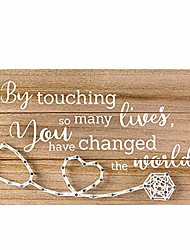 cheap -nurse doctor gifts for women men - thank you and retirement nurse gift sign - by touching so many lives you have changed the world - handmade 3d string art 12x6.6 inches