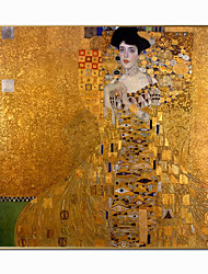cheap -World Famous Painting Series 100% Hand Painted Portrait Of Adele Bloch Canvas Paintings On The Wall Gustav Klimt Kiss Paintings Christmas Gift For Living Bed Room