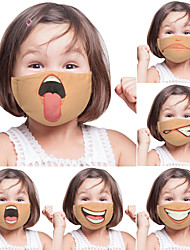 cheap -2 pcs Personality Expression Funny Foreign Trade Mask Adult Children Digital Printing a Custom Mask