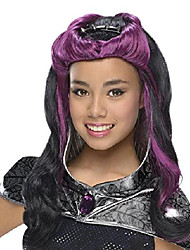cheap -rubies ever after high child raven queen wig with headpiece