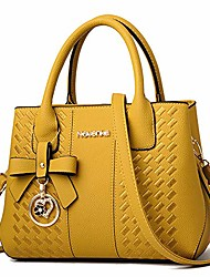 cheap -handbags for women shoulder tote bags satchel purse top handle designer leather ladies cossbody bag (yellow)