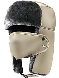 cheap -trapper hat winter hats for men trooper hunting ski hat women ear flap windproof mask beige