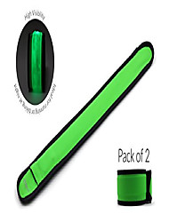 cheap -pack of 2 led slap bands glow bracelet, high visibility running armband includes batteries, glow in the dark. ideal for running, biking or walking at night (green)
