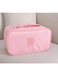 cheap -Women's Bags Polyester Toiletry Bag Cosmetic Bag Makeup Lace Zipper Floral Print 2021 Date Blushing Pink Sky Blue Beige Dark Blue