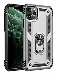 cheap -iphone 11 pro max case, military grade shockproof rugged armoru dual layer pc/tpu cover [15ft drop tested] with metal kickstand protective case for iphone 11 pro max (silver, iphone 11 pro max)