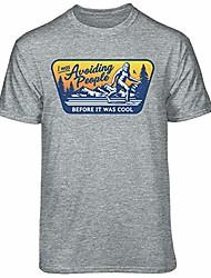 Недорогие -бигфут избегает людей до того, как это была крутая футболка с графическим рисунком (x-large - стандартный крой, спортивный вереск)