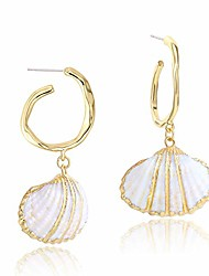 cheap -gold hoop earrings for women- shell dangle earrings sterling silver post