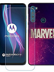 """cheap -black case + tempered glass for motorola one fusion, screen protector protective film and gel flexible tpu soft cover silicone protection shell for motorola one fusion (6.5"""") - skt92"""