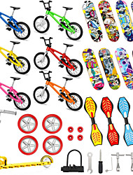cheap -34 pcs Finger skateboards Mini fingerboards Finger bikes Finger Toys Plastics Alloy Office Desk Toys with Replacement Wheels and Tools Party Favors Kid's Adults All Party Favors  for Kid's Gifts