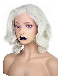 cheap -Synthetic Wig Wavy Water Kardashian Water Wave Bob Pixie Cut Wig Blonde Short Medium Length White Synthetic Hair Women's Natural Hairline Side Part Blonde White