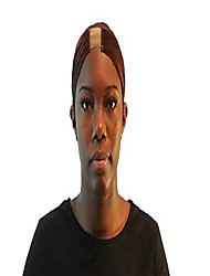 cheap -satin wig cap with adjustable lace wig grip (dark brown)