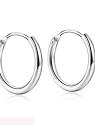 cheap -1.2mm thin sterling silver hoop earrings men women small medium large endless hoop earrings 10mm 15mm 20mm 30mm 40mm 50mm 75mm
