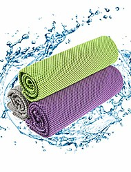 """cheap -puzxrry cooling towels for nack- 3 pack soft ice cold yoga camping towels ice cold towels(51""""x12""""), gray/green/purple"""