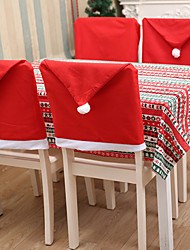 cheap -Christmas Chair Back Cover Decoracion Navidad Hat Christmas Decorations for Home Dinner Table Premium Year Xmas Chair cover 6pcs