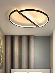 cheap -45cm LED Ceiling Light Round Circle Geometric Modern Simple Basic Black White Flush Mount Lights Metal Painted Finishes 110-120V 220-240V