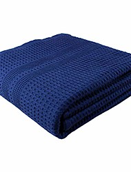 cheap -premium large bath sheet 100% natural cotton waffle weave – generous size lightweight ultra absorbent quick drying fade resistant (indigo)
