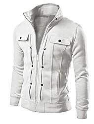 cheap -mens top fashion slim designed lapel cardigan slim fit coat jacket white