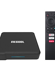 cheap -2020 2GB+16GB Mecool KM1 ATV Google Certified Android 10 TV Box Amlogic S905X3 Smart Androidtv Prime Video 4K Dual Wifi 2T2R Set Top Box