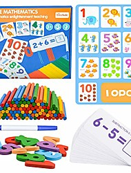 cheap -educational montessori toys for toddlers age 2 3 4, wooden toy gift for 1-5 year old kids boys girl preschool math flash cards number matching puzzle sight word games for toddler boy girls age 2-4