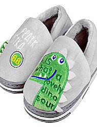 cheap -little kids/girls cute dinosaur slippers with memory foam and hard rubber sole size 10-11 us gray