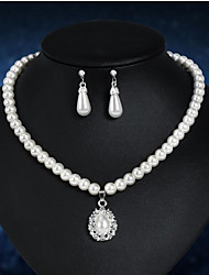 cheap -Women's Pearl Jewelry Set Classic Pear Stylish Imitation Pearl Earrings Jewelry White For Anniversary Party Evening Festival 1 set
