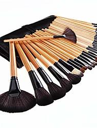 cheap -makeup set brush 32 tool full set of makeup with black makeup brush bag (color : clear)