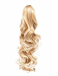 """cheap -onedor 20"""" curly synthetic clip in claw drawstring ponytail hair extension synthetic hairpiece 190g with a jaw/claw clip (r18/613)"""