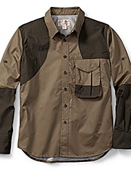 cheap -front loading shooting shirt - righty - khaki/blaze orange