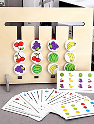 cheap -Board Game Logic & Puzzle Toy Educational Toy Montessori 4-Color Sorting Games Wooden STEAM Toy family game Parent-Child Interaction Home Entertainment Kid's Adults Boys and Girls Toys Gifts