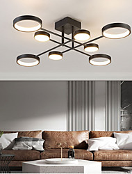 cheap -6/8 Heads LED Ceiling Light Modern Black Gold Nordic Circle Sputnik Design Metal Painted Finishes 110-120V 220-240V