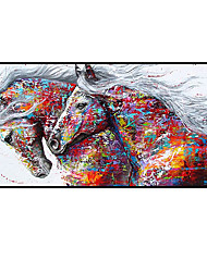 cheap -100% Hand-Painted Contemporary Art Oil Painting On Canvas Modern Paintings Home Interior Decor Abstract Art  Horse Painting Large Canvas Art(Rolled Canvas without Frame)