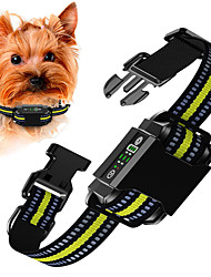 cheap -Dog Training Anti Bark Collar Shock Collar Anti Bark Device Adjustable Length Portable Multi-functional Dog Anti Bark Automatic Rechargable Safety Electronic Behaviour Aids For Pets