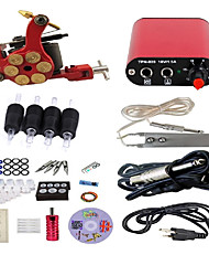 cheap -Tattoo Machine Starter Kit - 1 pcs Tattoo Machines Professional Alloy Mini power supply Case Not Included 19 W 1 steel machine liner & shader