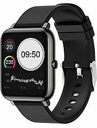 cheap -smart watch, fitness tracker for men women with blood oxygen spo2 blood pressure meter heart rate monitor 5atm waterproof 1.4 full touch screen,smartwatch for iphone android phones (black)