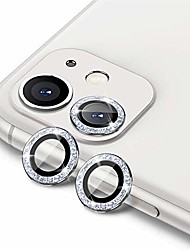 cheap -[2 pack]  for iphone 11(6.1 inch) camera lens protector,9h tempered glass hd anti-scratch aluminum alloy case friendly lens screen cover film (silver-bling)