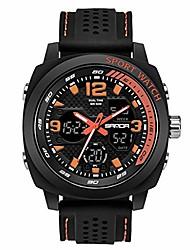 cheap -sanda men sport watch dual display analog digital led electronic wrist watches