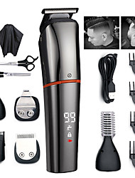 cheap -kemei Multifunctional hair clipper trimmer for men electric shaver razor Trimmer for nose USBcharging LCD displayHaircut Machine