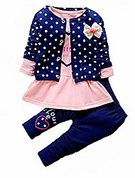cheap -Kid's Baby Kids Child Clothing Set Solid Color Long Sleeve Cotton Navy Red Green Chic & Modern