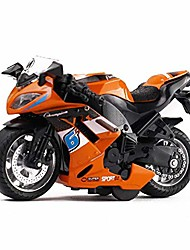 cheap -pull back vehicles race motorcycle toys, friction powered die cast racing motorcycles with music lighting, pullback toy gift for christmas brithday (orange)