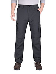 """cheap -mens casual quick dry convertible cargo pants gray l 32"""""""