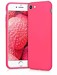 cheap -tpu silicone case compatible with apple iphone 7/8 / se (2020) - soft flexible protective phone cover - neon pink