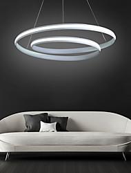 cheap -1-Light 46 cm Adjustable Chandelier Aluminum Circle Painted Finishes Contemporary LED 110-120V 220-240V