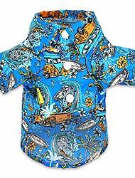 cheap -dog hawaiian shirt for dogs pet vacation polo clothes camp t shirts small medium summer apparel, xl, blue