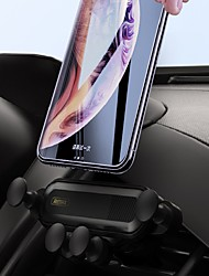 cheap -Remax RM-C40 Car Cell Phone Holder Gravity-Clamping Car Air Vent Mount Holder Cradle For iPhone Samsung Galaxy LG All Smartphone Carbon Fiber Pattern 360 Black & White Two Colors To Choice 1PCS